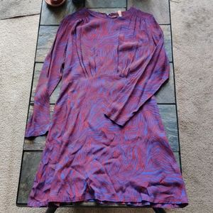 & Other Stories Abstract Print Midlength Dress 10